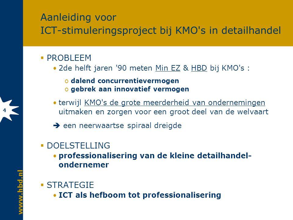 Agenda Introductie HBD Aanleiding ICT-stimuleringsproject