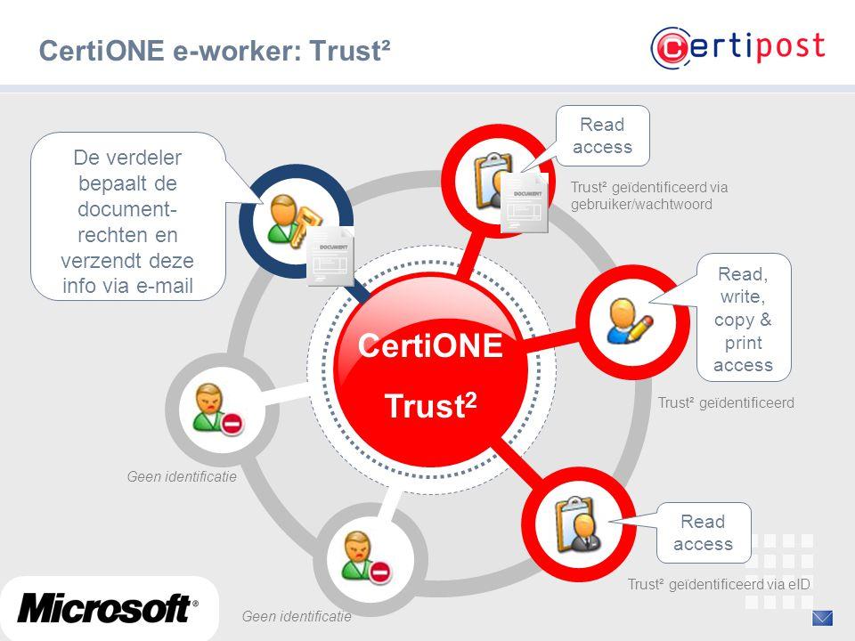 CertiONE e-worker: Trust²