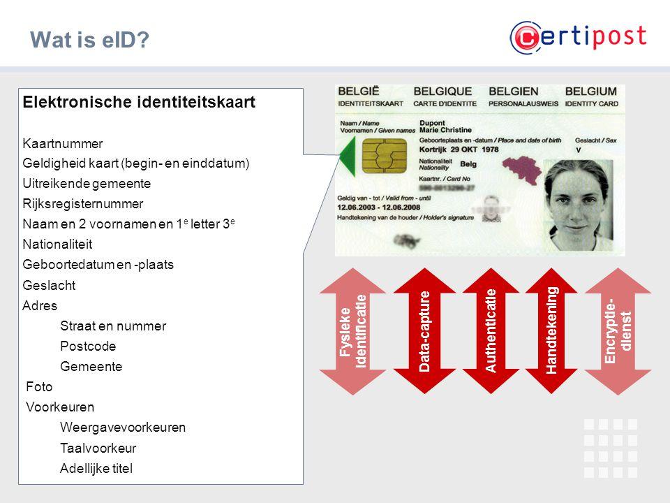 Wat is eID Elektronische identiteitskaart Kaartnummer