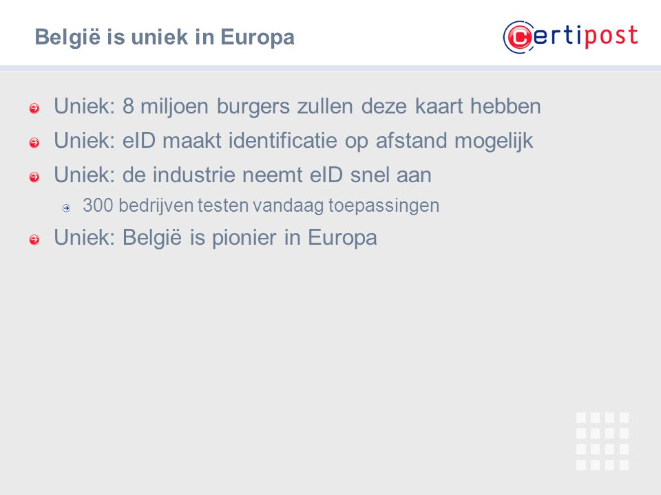 België is uniek in Europa