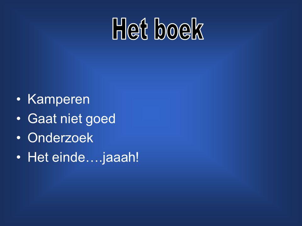 Het boek Kamperen Gaat niet goed Onderzoek Het einde….jaaah!