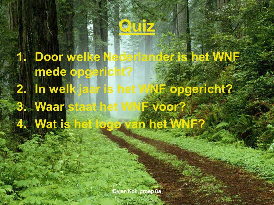Quiz Door welke Nederlander is het WNF mede opgericht