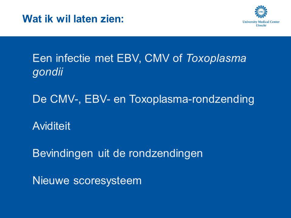 Een infectie met EBV, CMV of Toxoplasma gondii