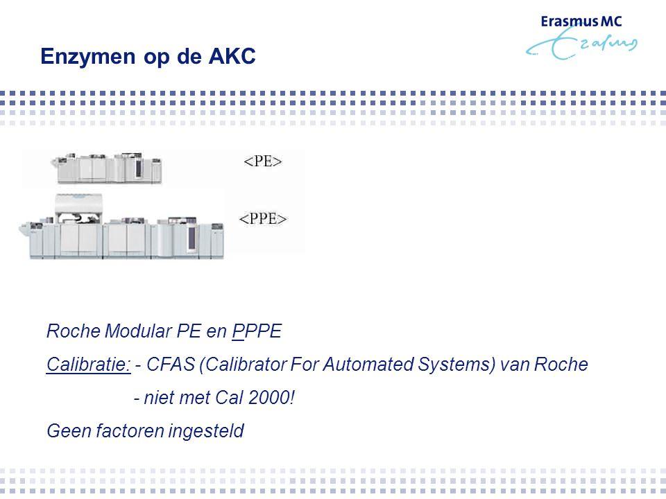 Enzymen op de AKC Roche Modular PE en PPPE