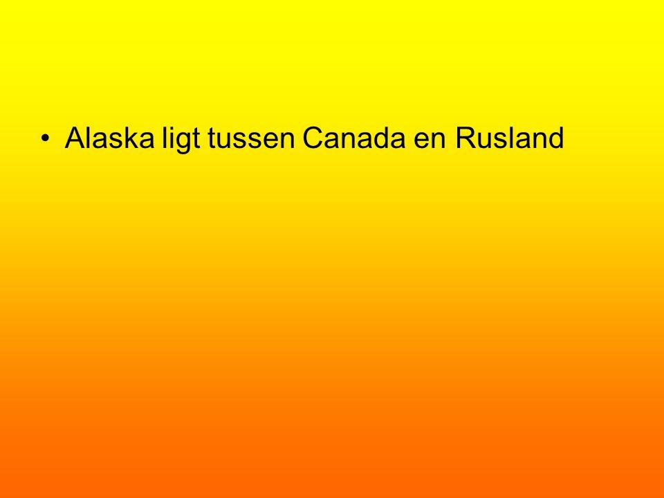 Alaska ligt tussen Canada en Rusland