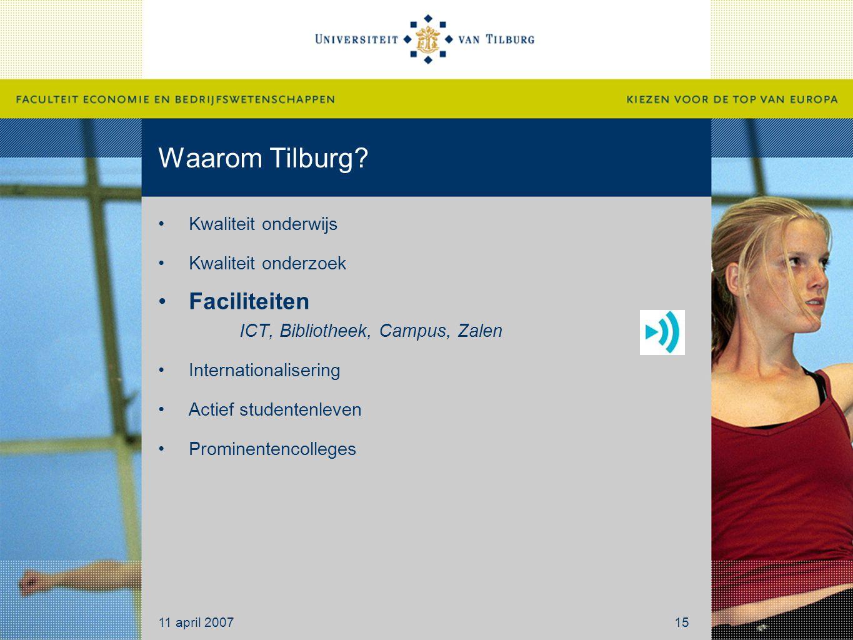 Waarom Tilburg Faciliteiten ICT, Bibliotheek, Campus, Zalen