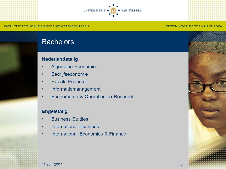 Bachelors Nederlandstalig Algemene Economie Bedrijfseconomie