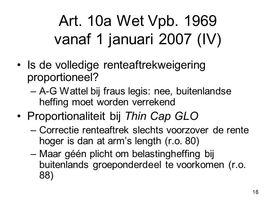 Art. 10a Wet Vpb. 1969 vanaf 1 januari 2007 (IV)