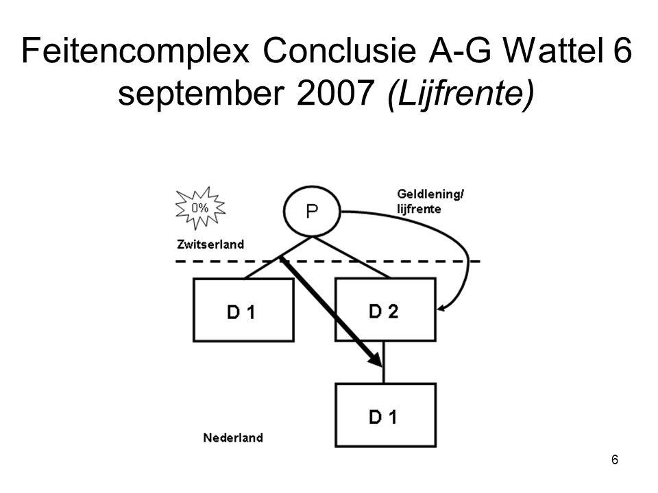 Feitencomplex Conclusie A-G Wattel 6 september 2007 (Lijfrente)
