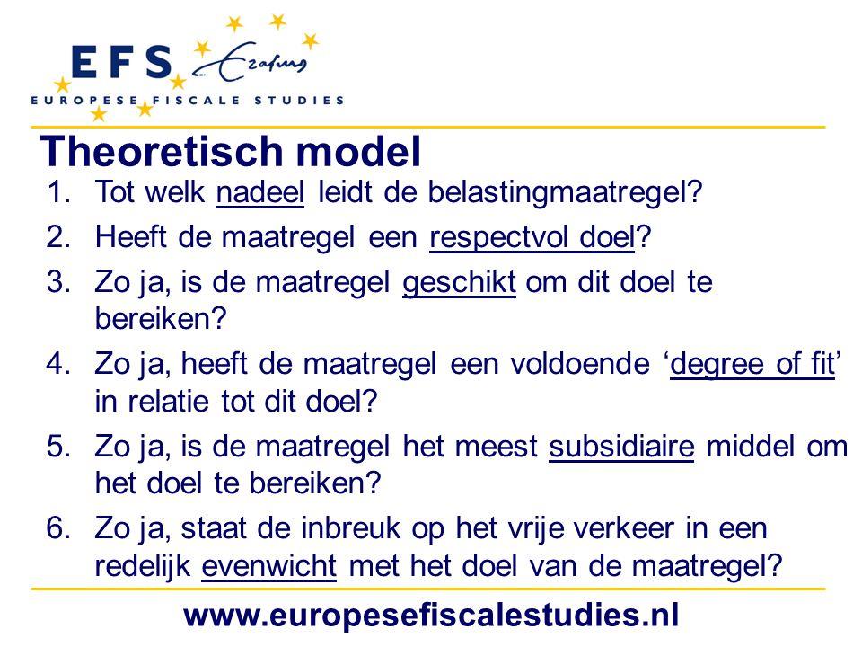 Theoretisch model www.europesefiscalestudies.nl