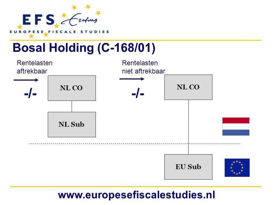 -/- -/- Bosal Holding (C-168/01) www.europesefiscalestudies.nl