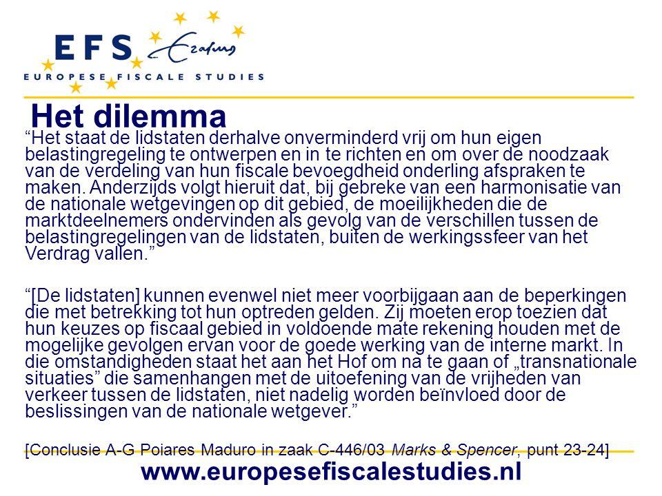 Het dilemma www.europesefiscalestudies.nl