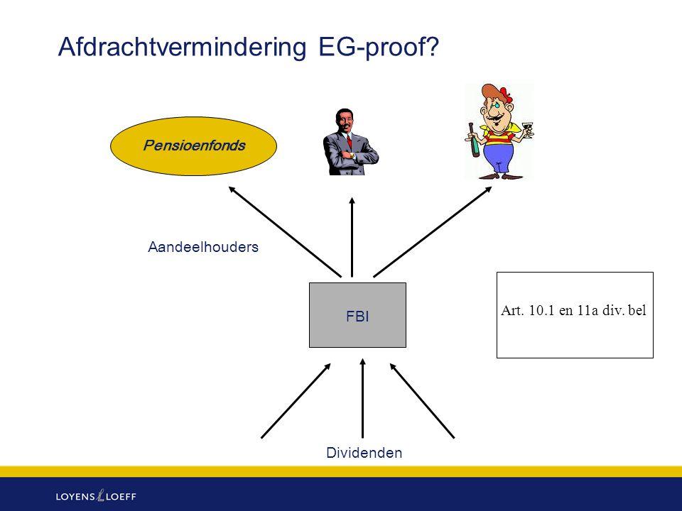 Afdrachtvermindering EG-proof