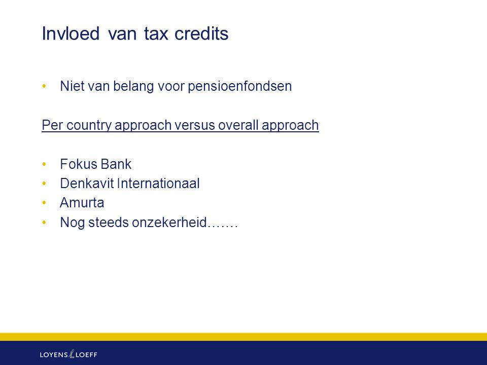 Invloed van tax credits
