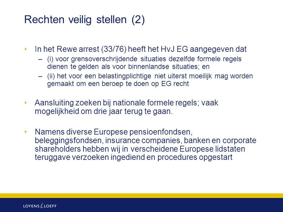 Rechten veilig stellen (2)
