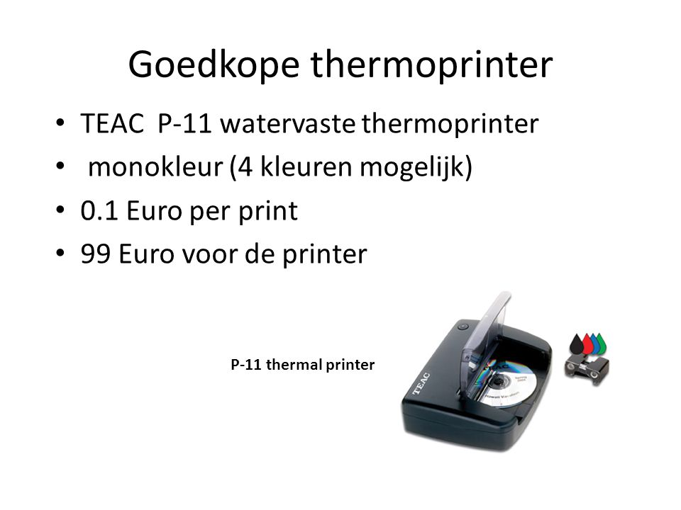 Goedkope thermoprinter