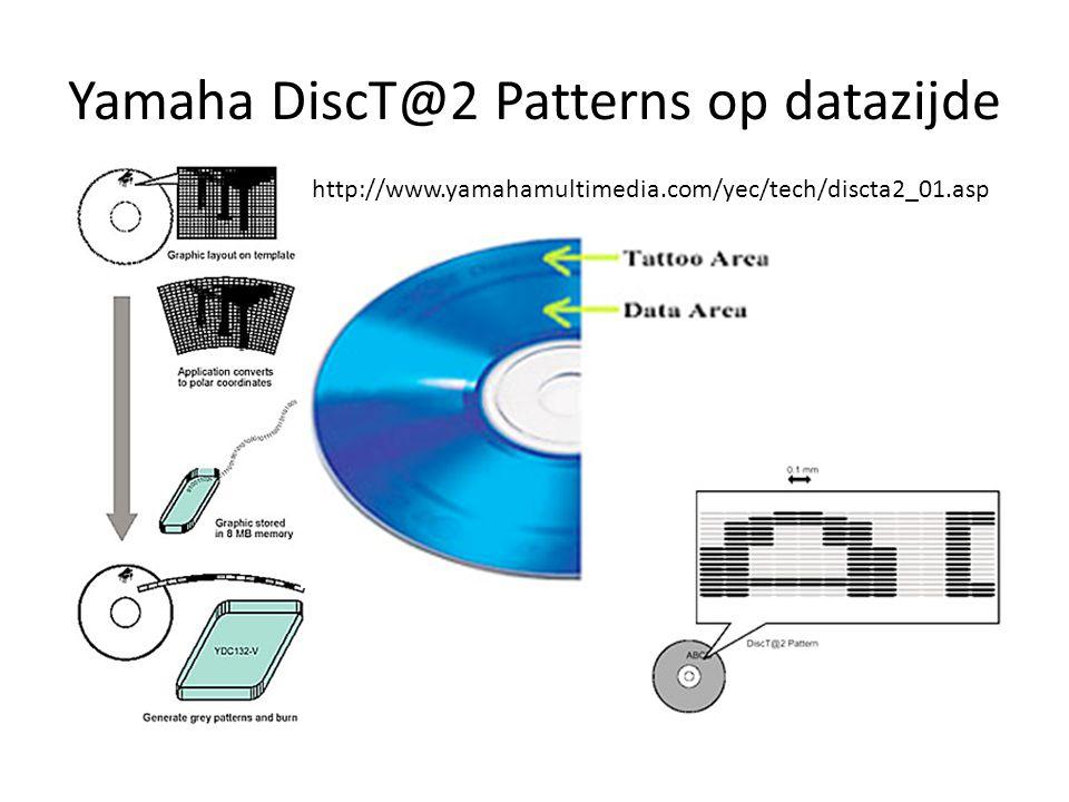 Yamaha DiscT@2 Patterns op datazijde
