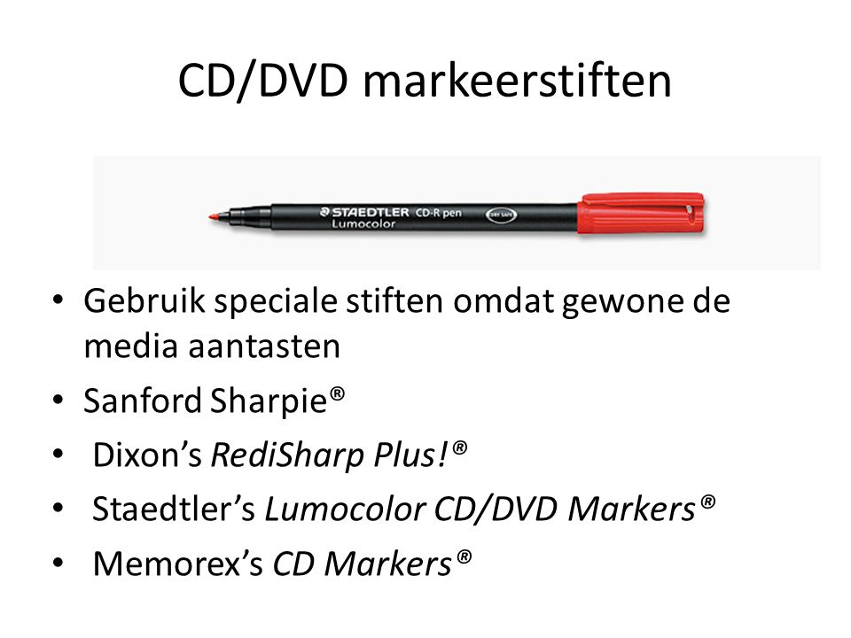 CD/DVD markeerstiften