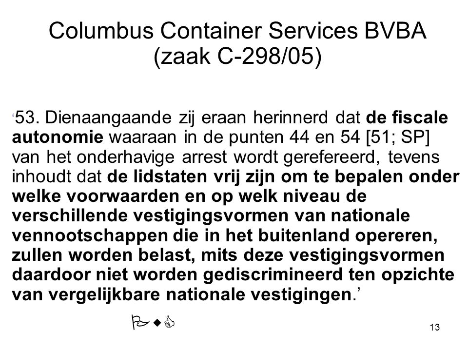Columbus Container Services BVBA