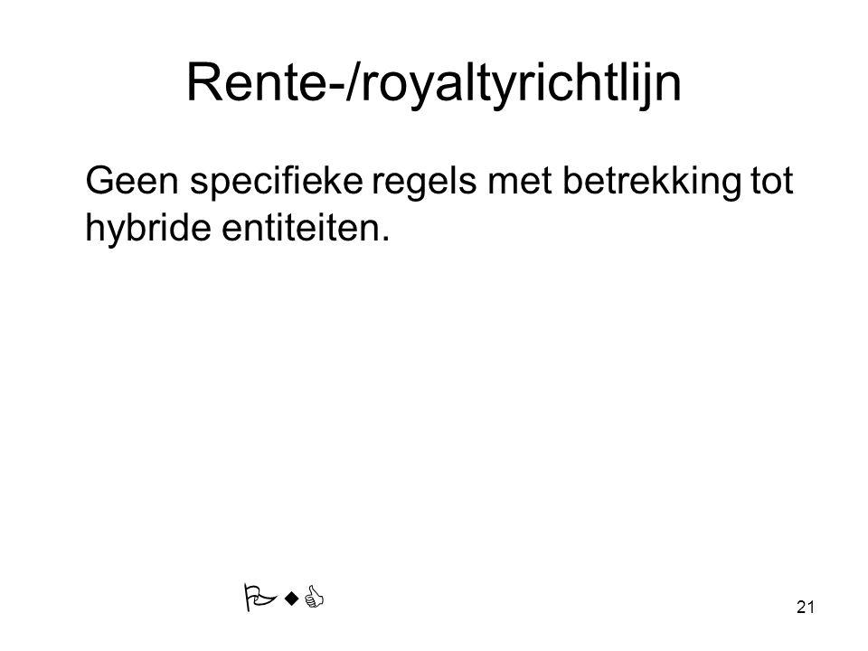 Rente-/royaltyrichtlijn