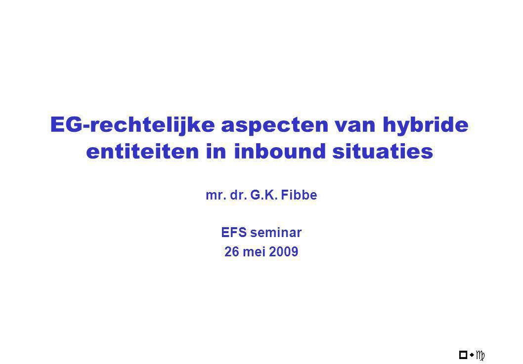 EG-rechtelijke aspecten van hybride entiteiten in inbound situaties