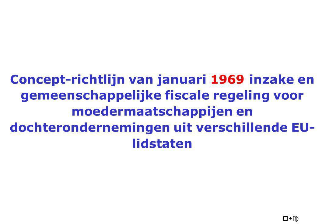 Concept Moeder-Dochterrichtlijn 1969