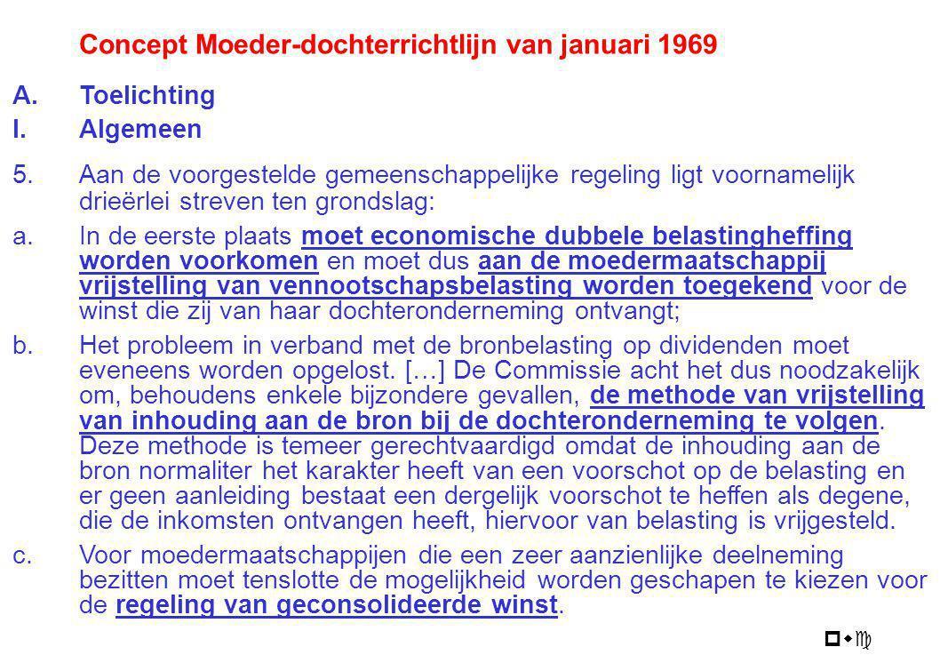 Concept Moeder-dochterrichtlijn van januari 1969
