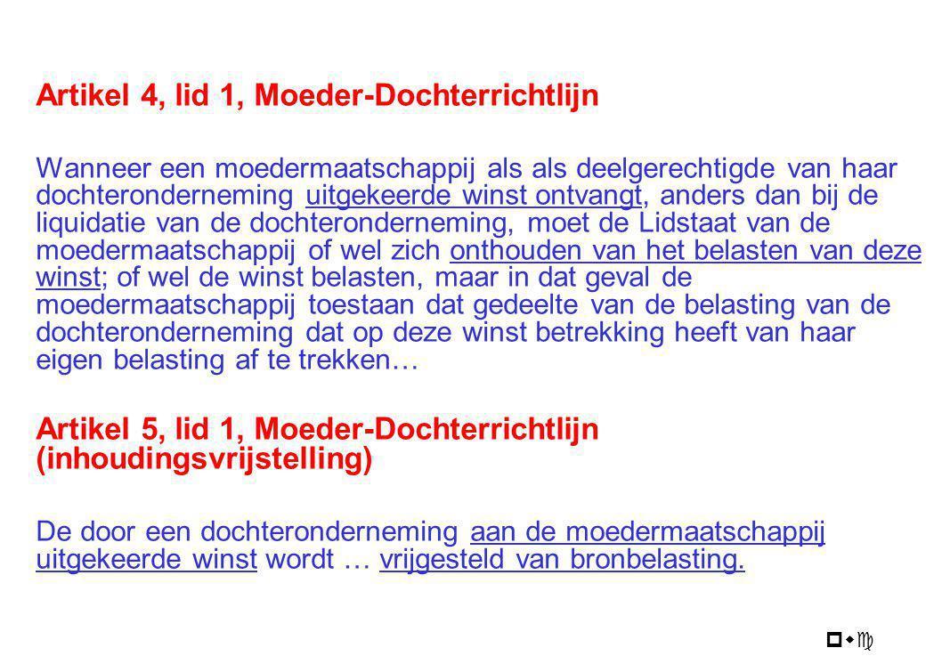 Moeder-dochterrichtlijn 1990