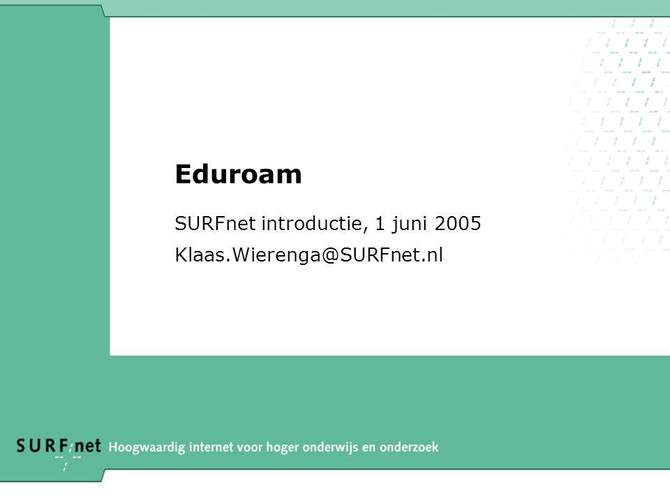 SURFnet introductie, 1 juni 2005 Klaas.Wierenga@SURFnet.nl