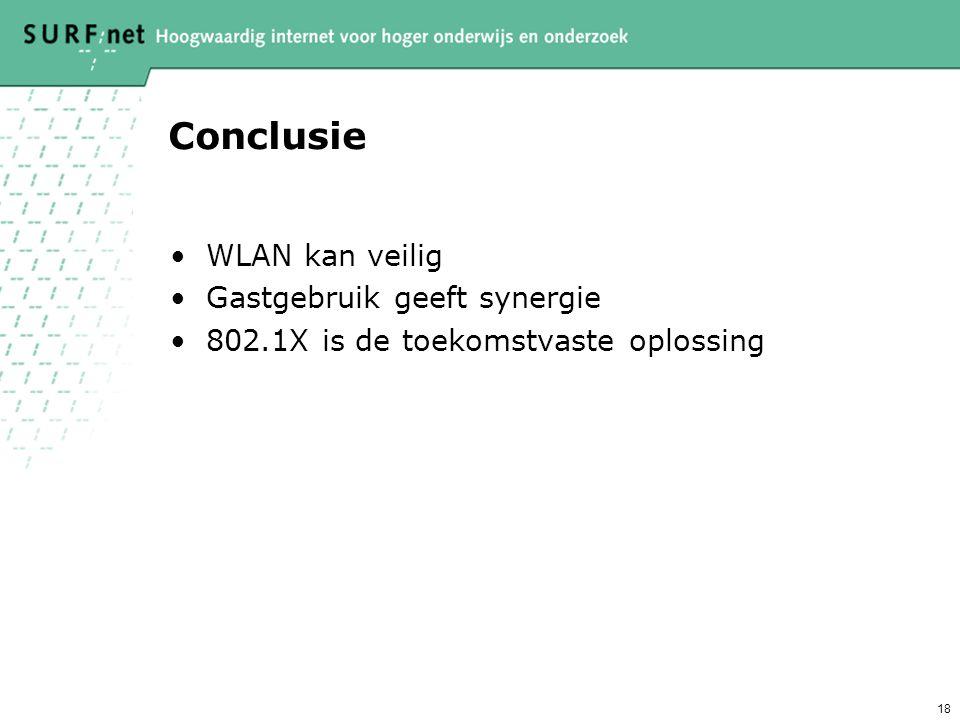 Conclusie WLAN kan veilig Gastgebruik geeft synergie