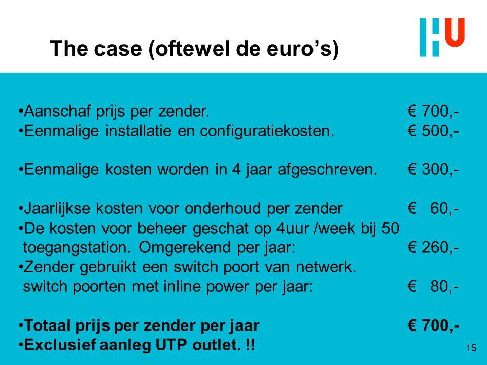 The case (oftewel de euro's)