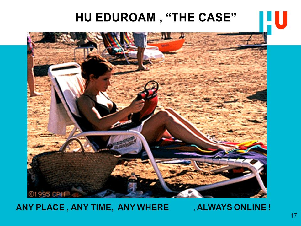 HU EDUROAM , THE CASE ANY PLACE , ANY TIME, ANY WHERE