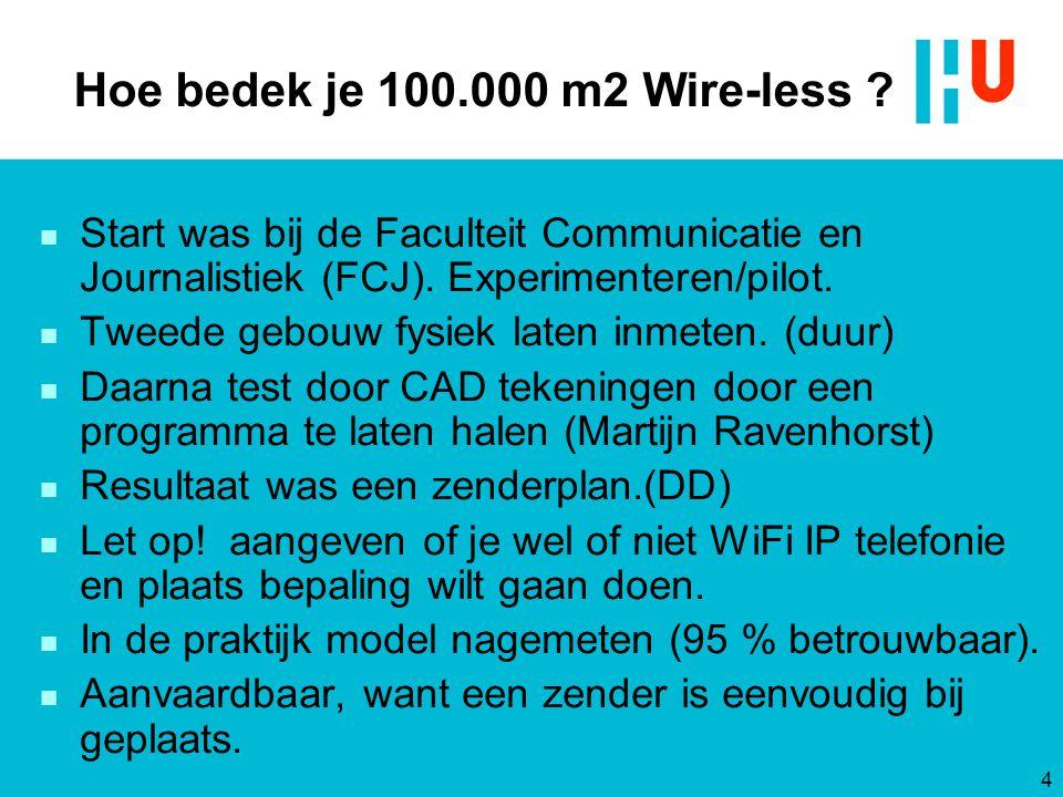 Hoe bedek je 100.000 m2 Wire-less