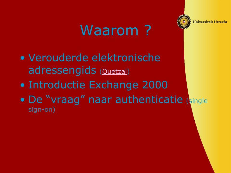 Waarom Verouderde elektronische adressengids (Quetzal)