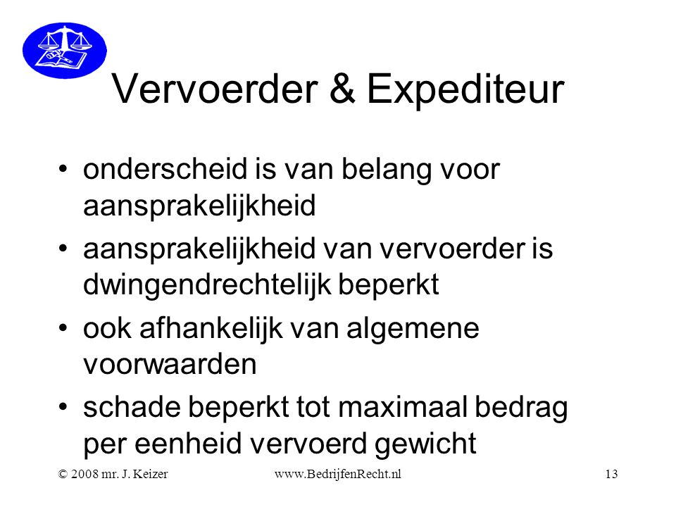 Vervoerder & Expediteur