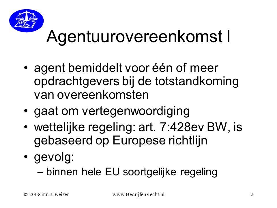 Agentuurovereenkomst I