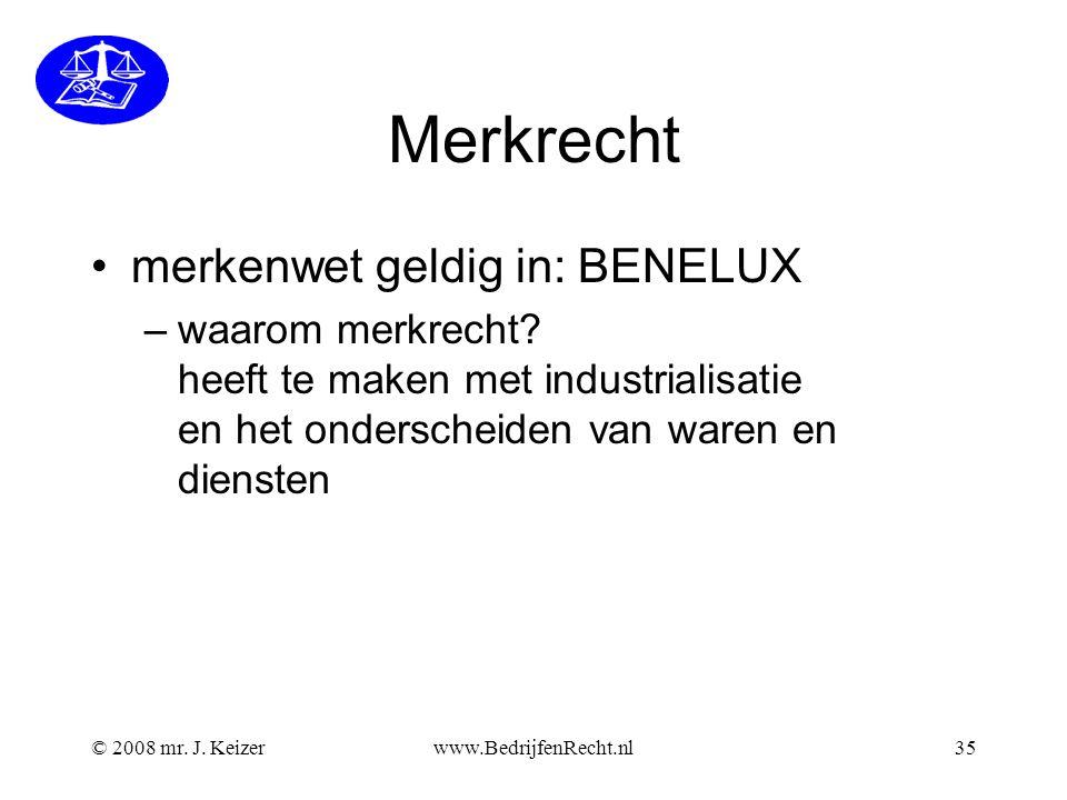 Merkrecht merkenwet geldig in: BENELUX