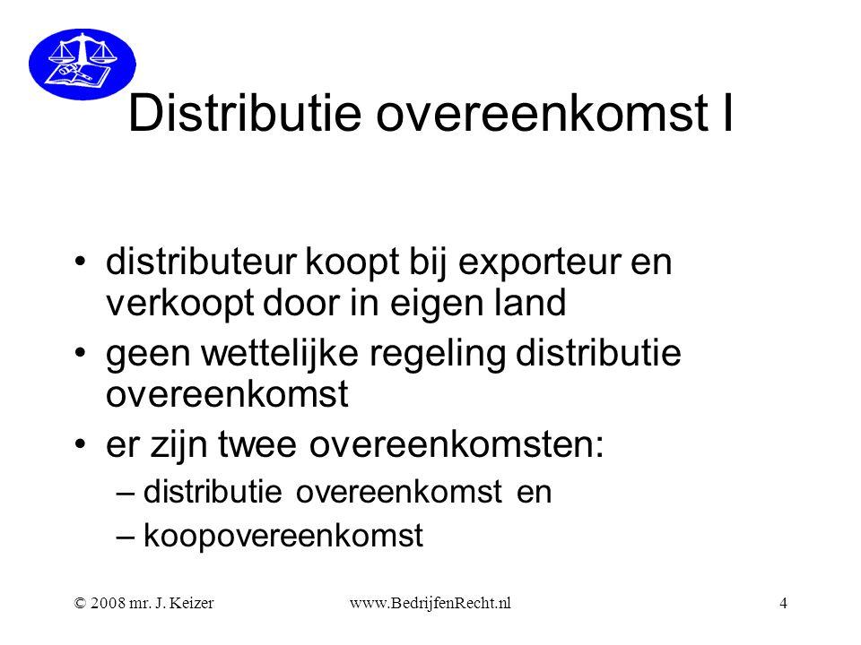 Distributie overeenkomst I
