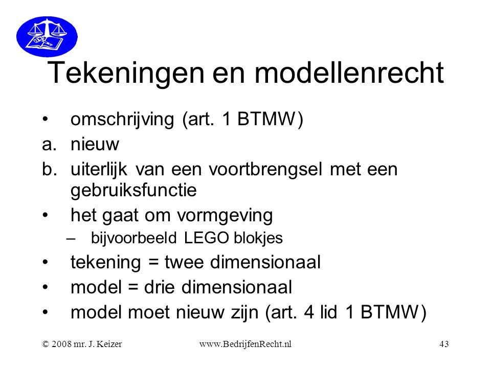Tekeningen en modellenrecht