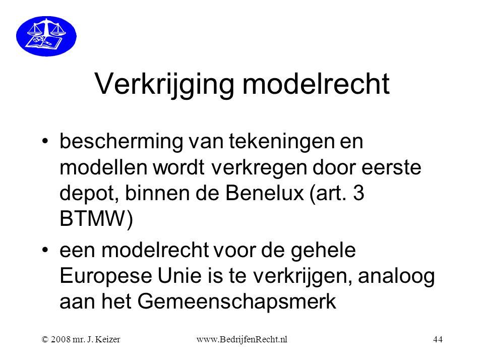 Verkrijging modelrecht