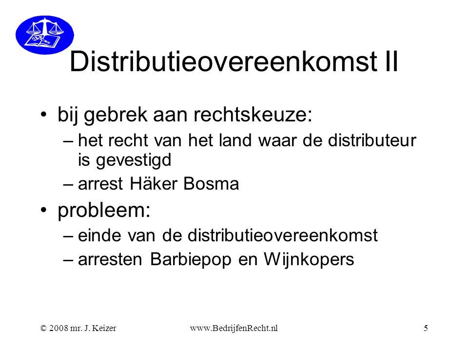Distributieovereenkomst II