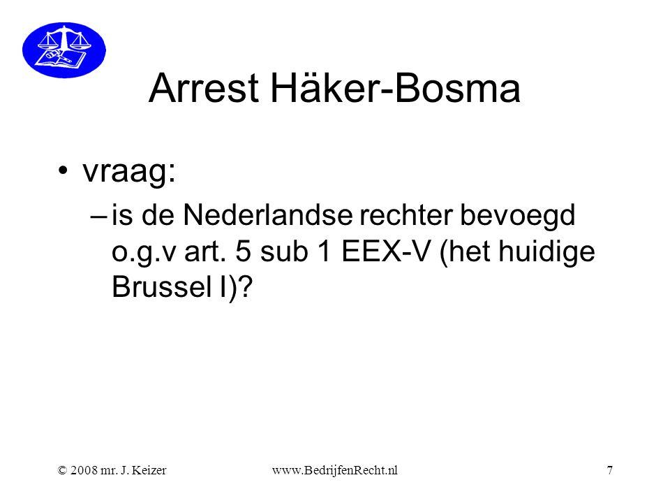 Arrest Häker-Bosma vraag: