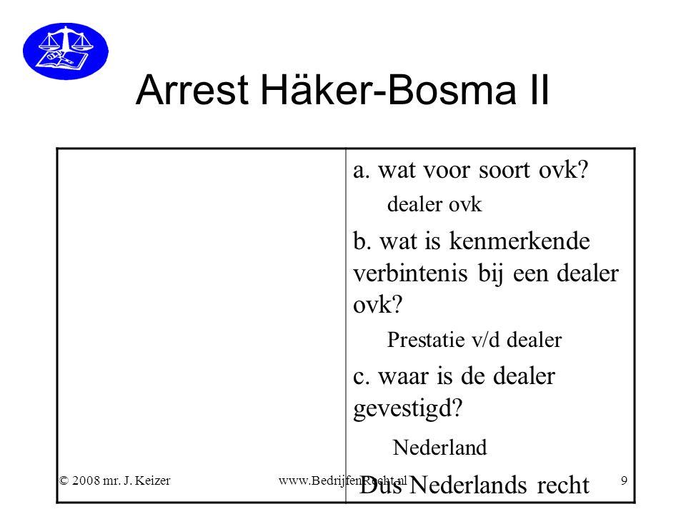 Arrest Häker-Bosma II a. wat voor soort ovk