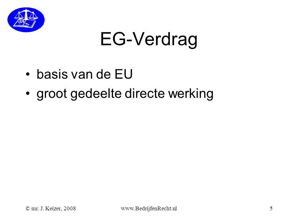 EG-Verdrag basis van de EU groot gedeelte directe werking