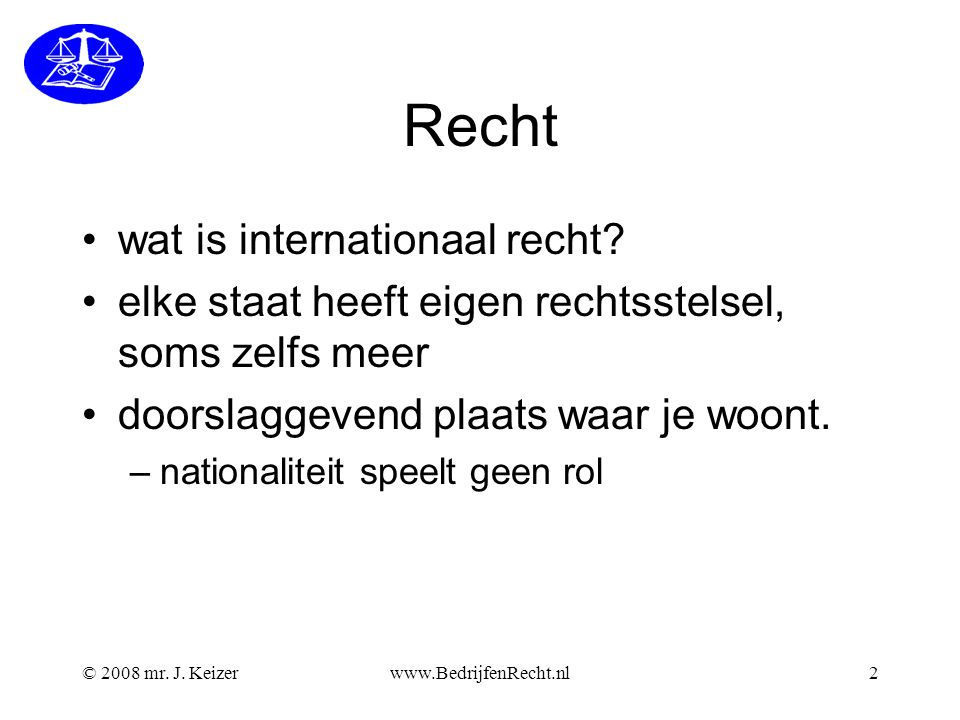 Recht wat is internationaal recht