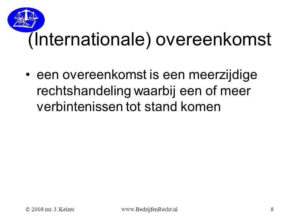 (Internationale) overeenkomst