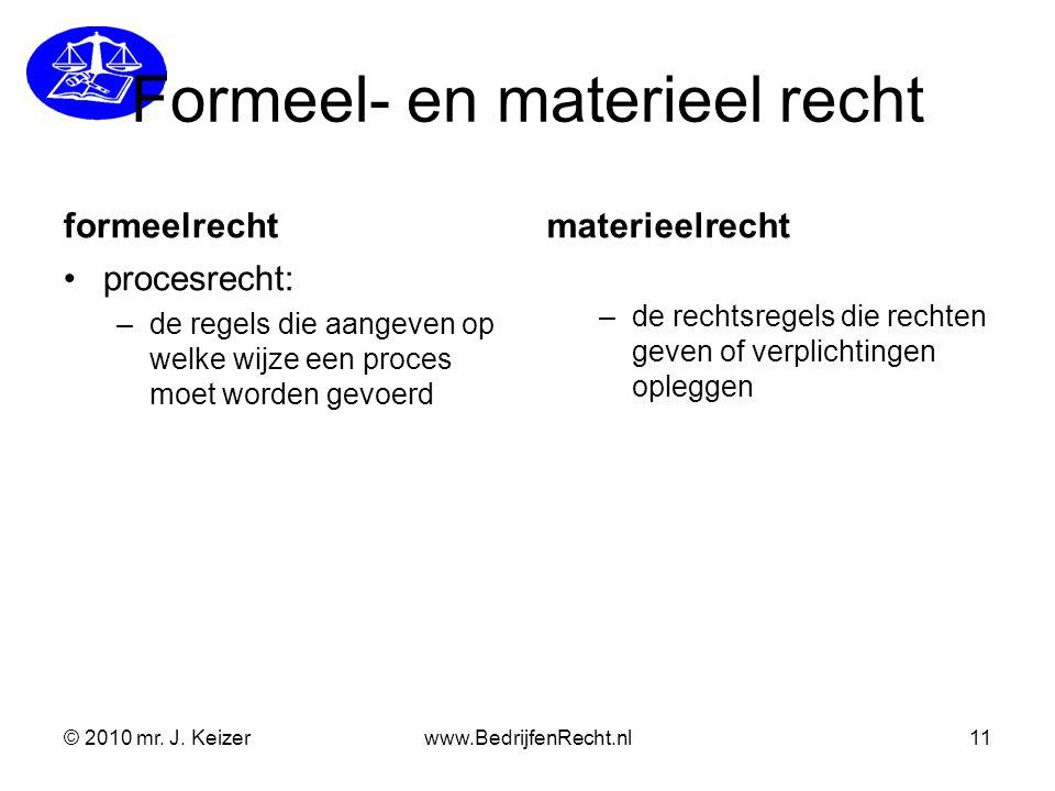 Formeel- en materieel recht