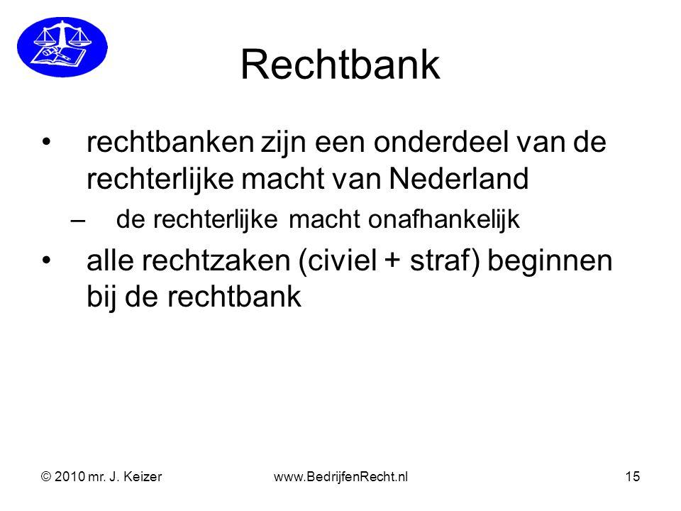 Rechtbank rechtbanken zijn een onderdeel van de rechterlijke macht van Nederland. de rechterlijke macht onafhankelijk.