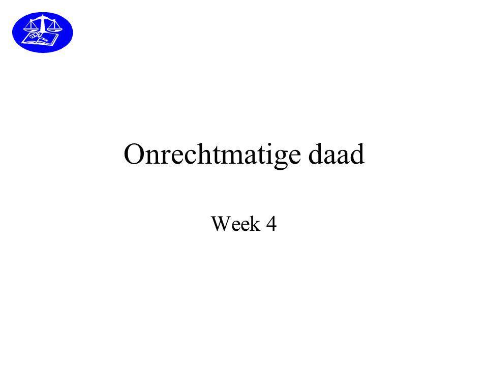 Onrechtmatige daad Week 4