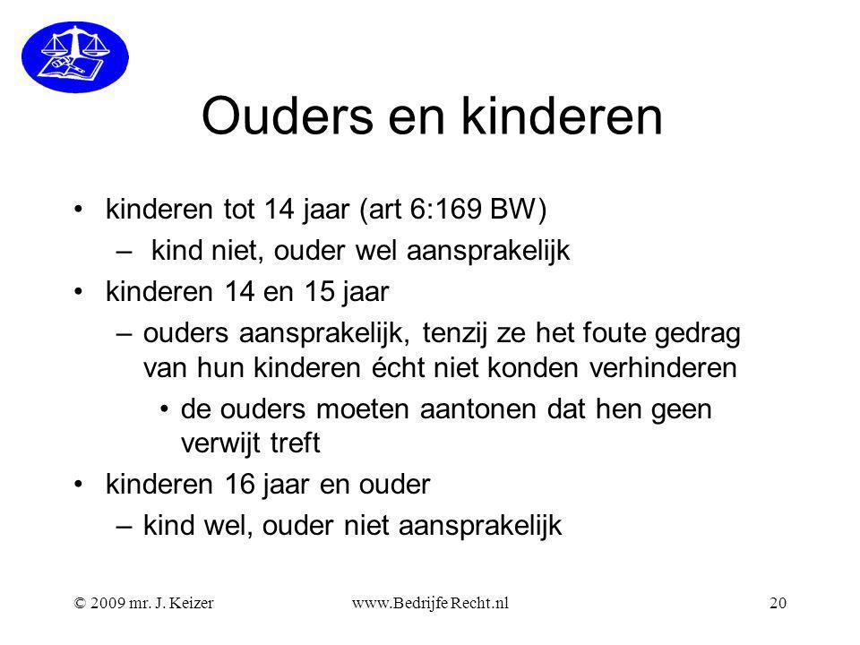 Ouders en kinderen kinderen tot 14 jaar (art 6:169 BW)